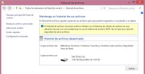 Historial de Archivos-Activar