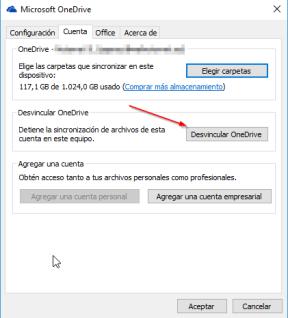 OneDrive-Desvincular Cuenta
