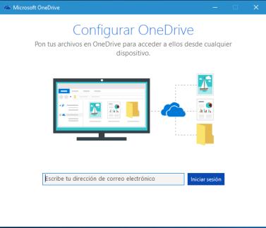 OneDrive-Iniciar configuración