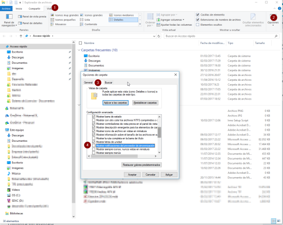 Desactivar publicidad en Explorer Windows 10