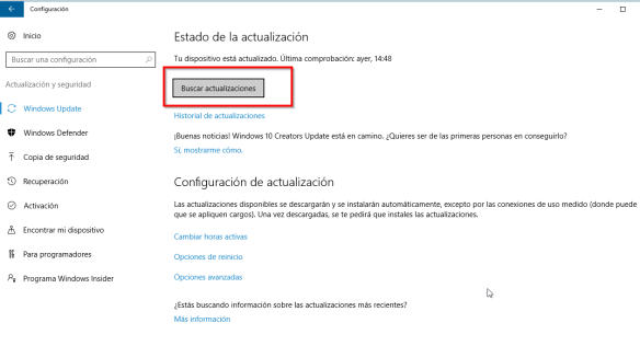 windows update - buscar (W10-1)