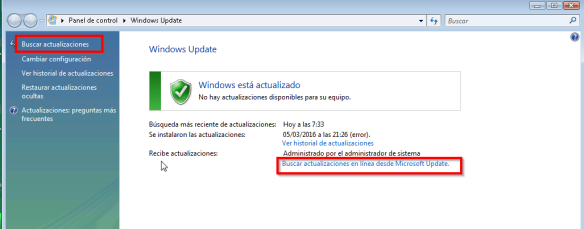 windows update - buscar (W7-1)